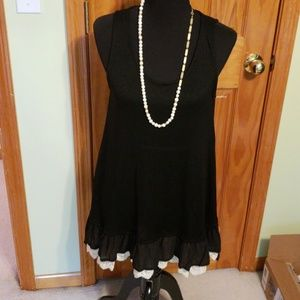 Black tunic with lace bottom
